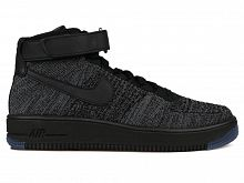 Nike Air Force 1 Flyknit Темно-Серые