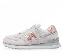New Balance 574 Grey/Gold Pink