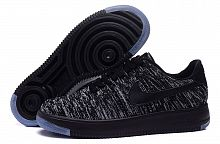 Nike Air Force 1 Flyknit Black-Grey