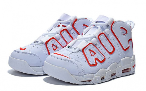 Nike Air More Uptempo White/Versity Red