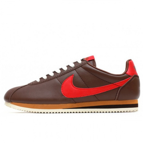 Nike Classic Cortez Leather Brown Red